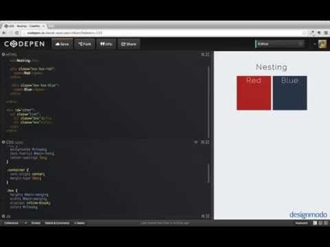 Using Nesting Styles in Preprocessors u2014 Nesting styles are one of - new blueprint css framework video tutorial