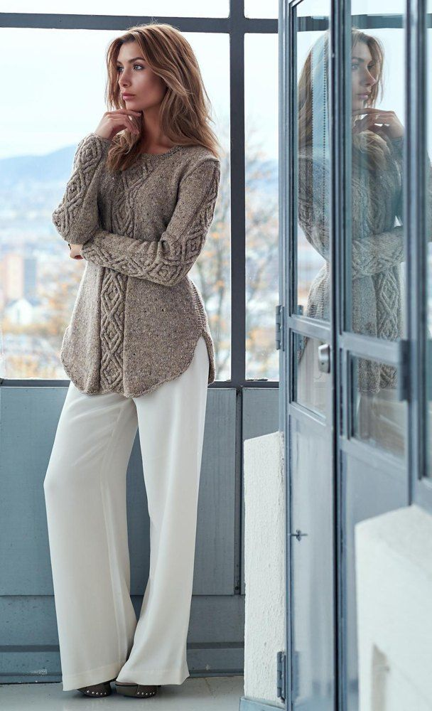 Photo of Oydis Sweater Knitting pattern by Linda Marveng