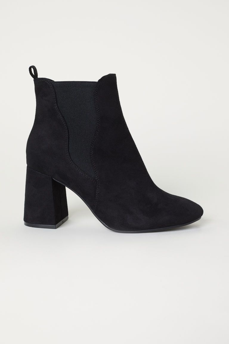 7aaf6bedc8f7 Ankle Boots with Side Panels - Black - Ladies
