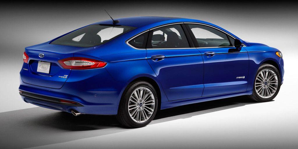 2017 Blue Fustion Ford Fusion Hybrid Cars