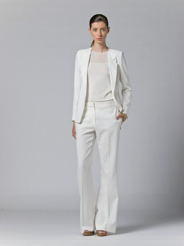 White Pant Suits For Ladies