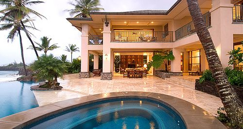 House Luxury Mansion Palm Trees Pool House Mansions Luxury Homes