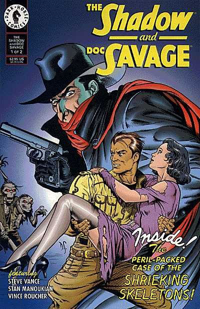 Cool cover of The Shadow and Doc Savage #1 (of 2) from 1995.
