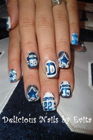 Dallas Cowboys Jerseys By Edelarosa81 From Nail Art Gallery Missing