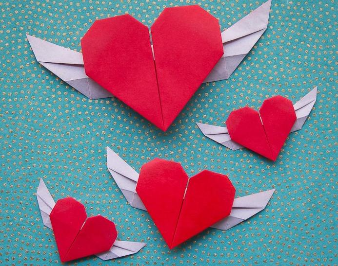 Origami Sanatı\'nı kullanarak sevdiklerinize sevginizi ifade ...