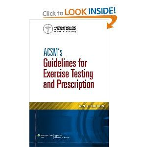 Acsm S Guidelines For Exercise Testing And Prescription American College Of Sports Medicine 9781609139551 Amazon Com Books Acsm Prescription Exercise