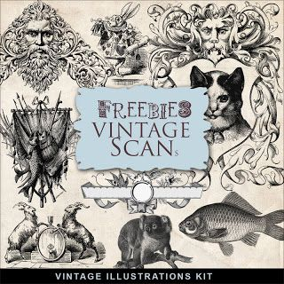 Freebies Vintage Illustrations