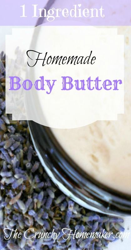 Homemade Body Butter, with just ONE ingredient! Yes, just ONE ingredient, let's keep it super simple! If you are feeling extra adventurous you can add essential oils to the mix. Honestly though, I really like to make things quickly and easily and you can whip this decadent body butter in no time.