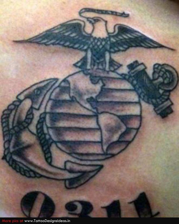 #USMC #moto #tattoo #EGA #0311 #grunt #SemperFi #MarineCorps #SemperFidelis #Marine #devildog #leatherneck #thefewtheproud #honor #courage #commitment #getsome #military #USA #motivated #tattoolicious #ink #bodyart
