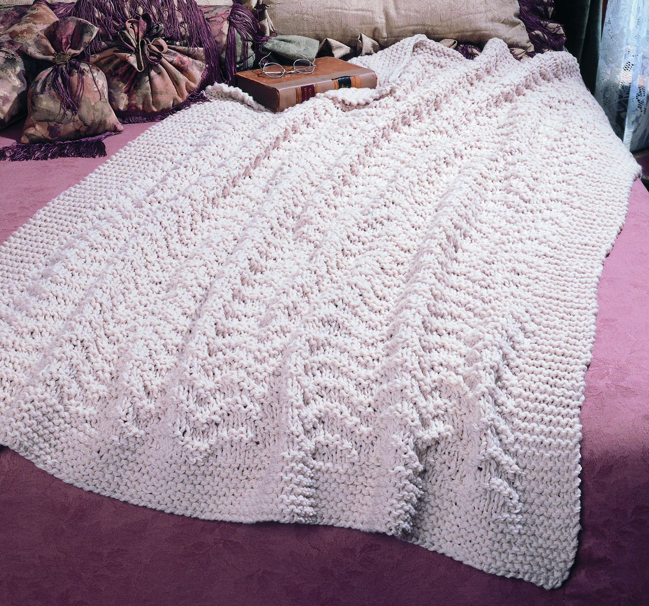 Knit a Blissful Afghan Pattern - Free and Easy pattern | Manta ...