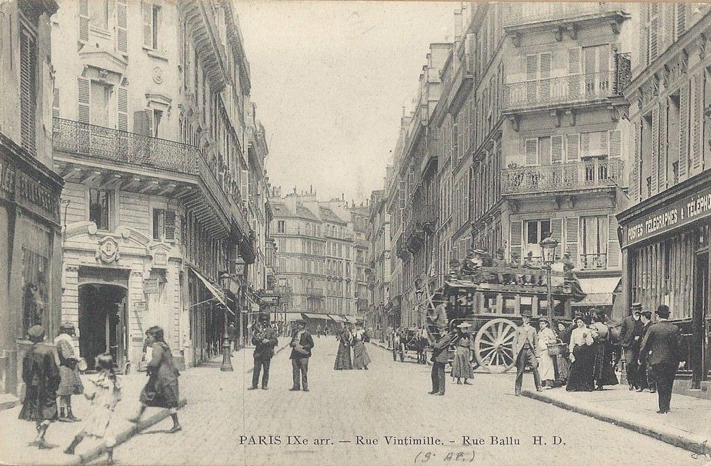 Rue Vintimille Vintimille Paris Vieux Paris