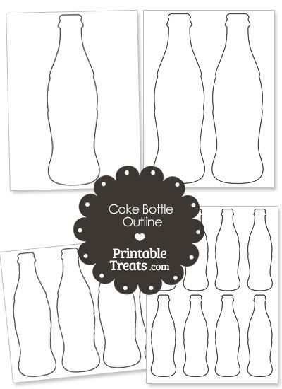 Printable Coke Bottle Outline With Images Coke Bottle Teacher