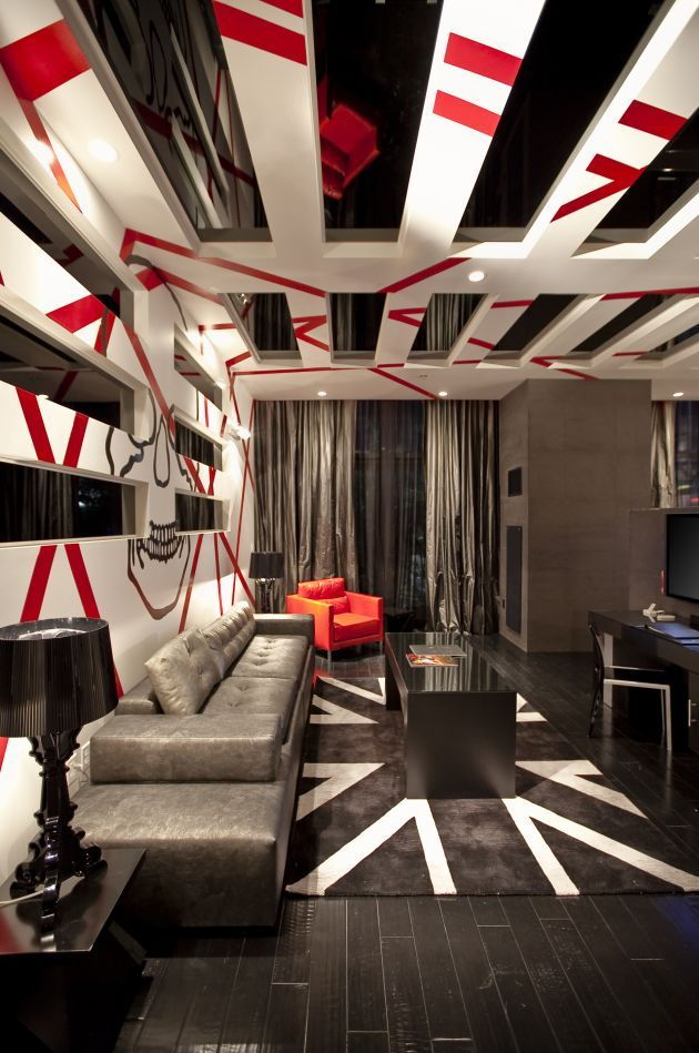 Punk Rock Suite Interior Bedroom At The Hard Hotel Las Vegas By Chemical Spaces