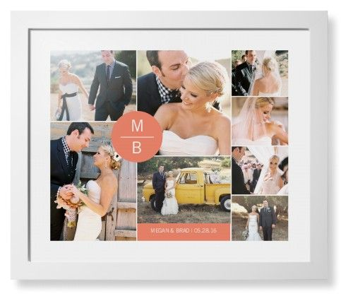 Circle Overlay Framed Print, White, Contemporary, None, White, Single piece, 16 x 20 inches, Pink