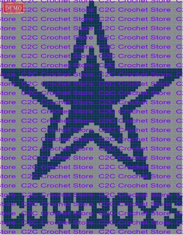 C2C Dallas Cowboys Graph Pattern | Punto de cruz y Puntos