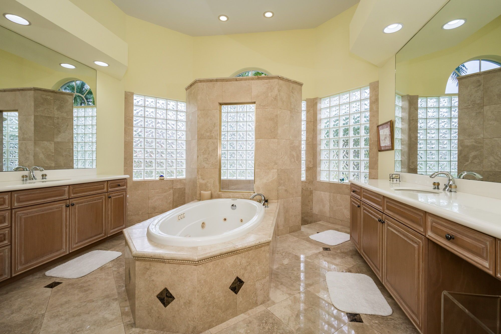 The Master Bathroom Has Dual Vanities Large Separate Shower A