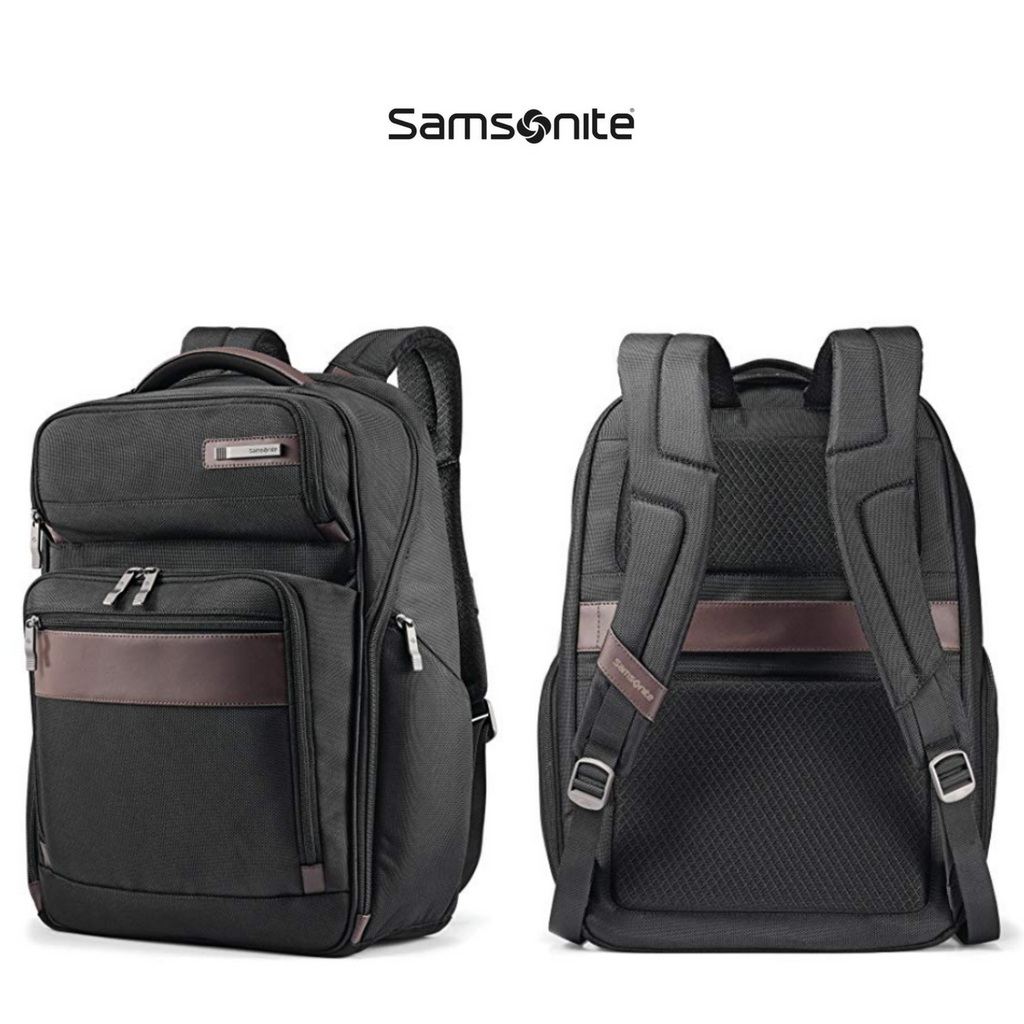 Samsonite - Kombi Large Backpack   Black Brown   Click for Price and More   Backpack  Ideas   Backpack For Travel   Backpack Tips   Stylish Travel Backpack ... a92b9125ad