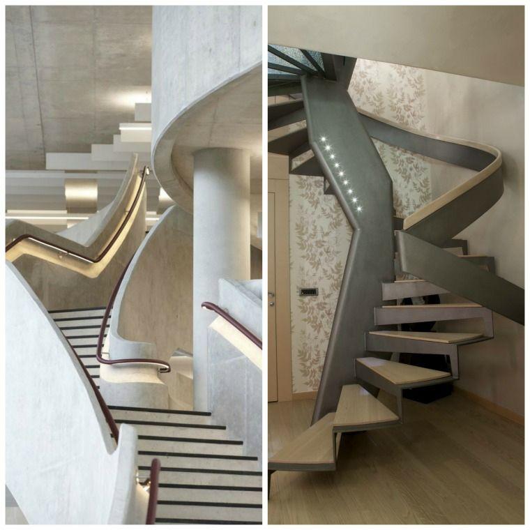 Rampe escalier intérieur moderne pour monter et descendre élégamment
