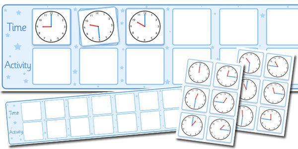 Visual Timetable Display With Clocks - visual timetable display