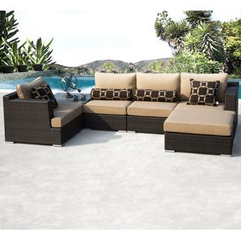 costco niko 6 piece patio deep seating modular sectional by sirio