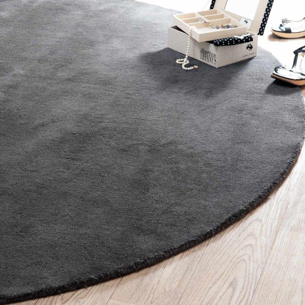 rond tapijt soft antraciet 200 cm nieuwe huis. Black Bedroom Furniture Sets. Home Design Ideas