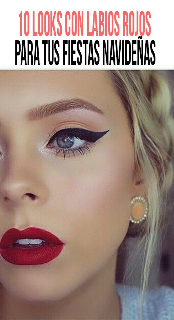 10 looks con labios rojos para tus fiestas navideñas