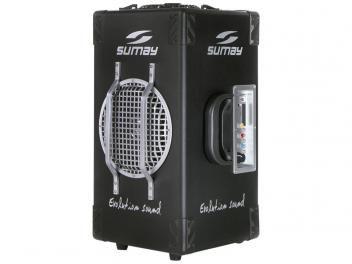 Caixa De Som Bluetooth Portatil Sumay 60w Usb Com Subwoofer E