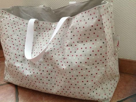 sac de plage inspir sac petit bateau xxl carole la f e sacs pinterest couture sewing. Black Bedroom Furniture Sets. Home Design Ideas