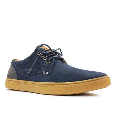 Another great find on #zulily! Navy Lone Star Suede Sneaker #zulilyfinds