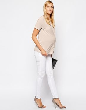 Image 4 ofASOS Maternity Crepe Top With Pleat Front