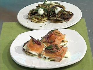 Crêpes con hongos y salmón en elgourmet