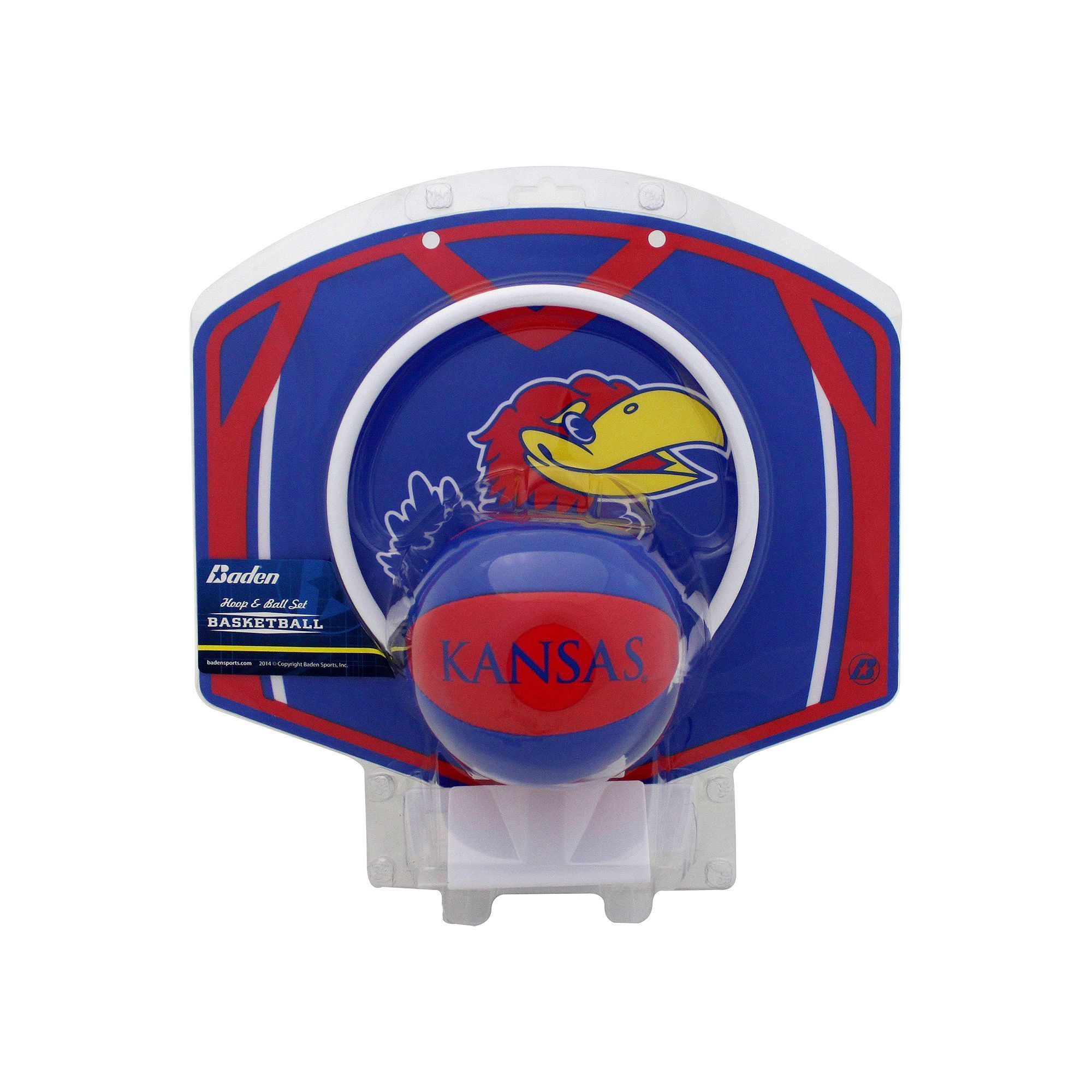baden kansas jayhawks mini basketball hoop ball set blue
