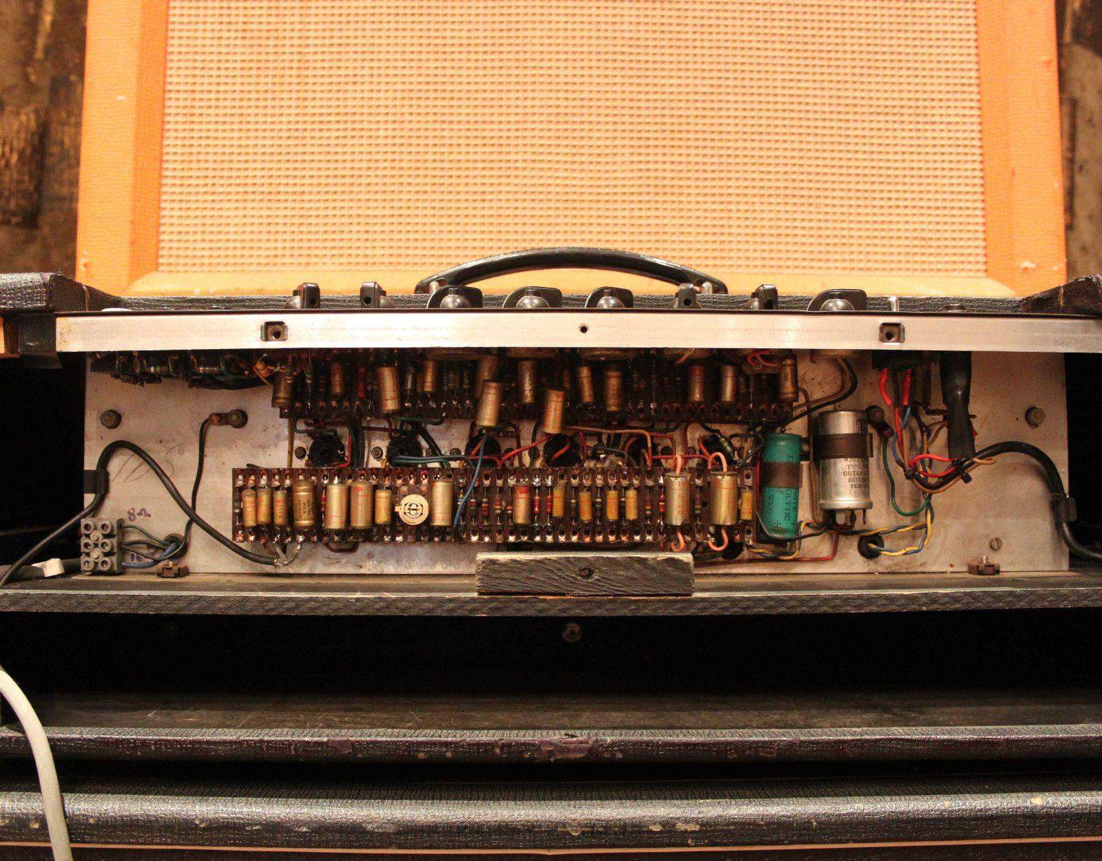 Vintage 1964 Vox Ac30 Super Twin Top Boost Grey Panel Jmi Head Cab Wiring Amplifier Ebay