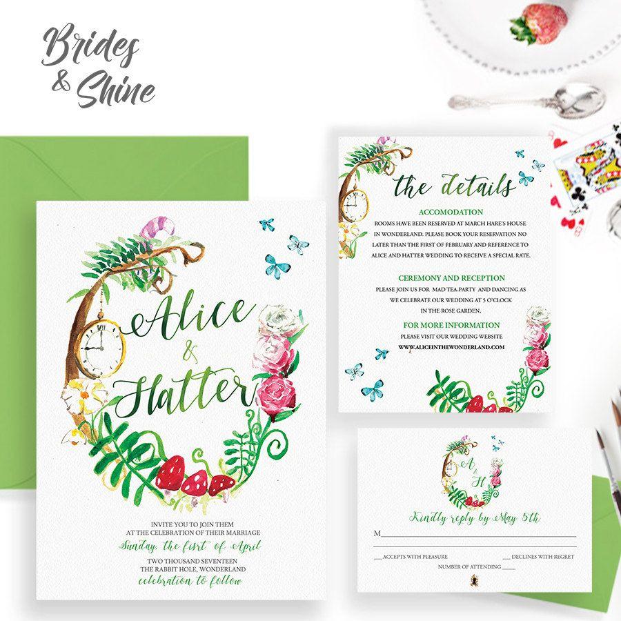 20 DIY Alice in Wonderland Tea Party Wedding Ideas & Inspiration ...