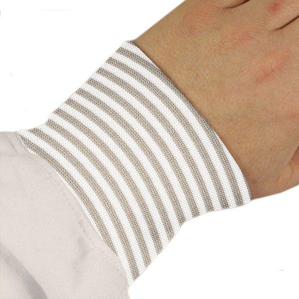 Bündchen Mini Stripes 7 - Baumwolle - Elasthan - beige