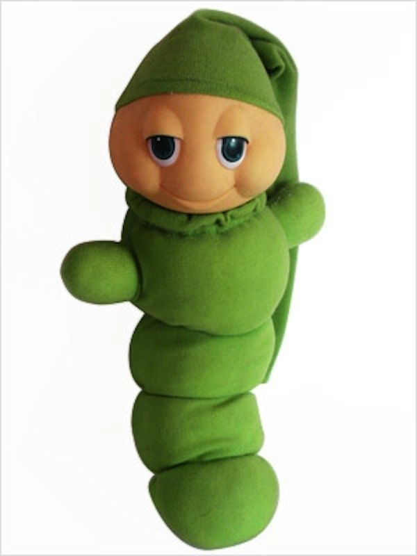 1984 Glo Worm Stack and Glow Stacking Toy WORKS Kids Collectible Cute Green Glow Worm Rare Hard to Find 80s Children
