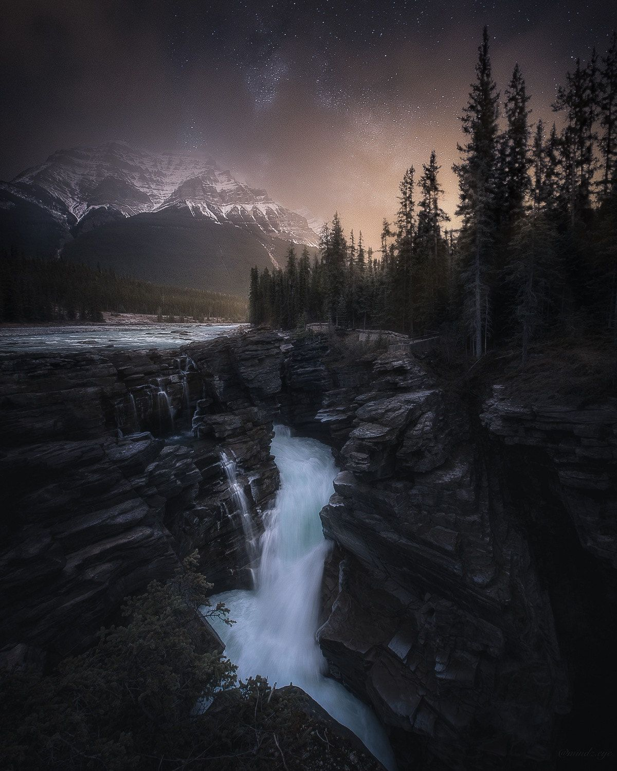 Untitled By Mindz Eye Canada Landscape Water Nature Night Clouds Rocks Stars Waterfall Mountain Long Ex Cool Landscapes Landscape Pictures Canada Landscape