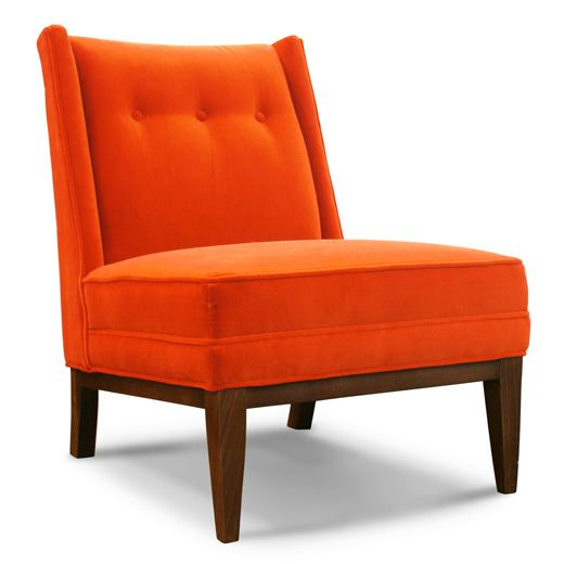 orange chair salon diy fabric high pin by peter sydloski tesch on the bar it will happen one day slippers modern home furniture color naranja upholstered chairs armless
