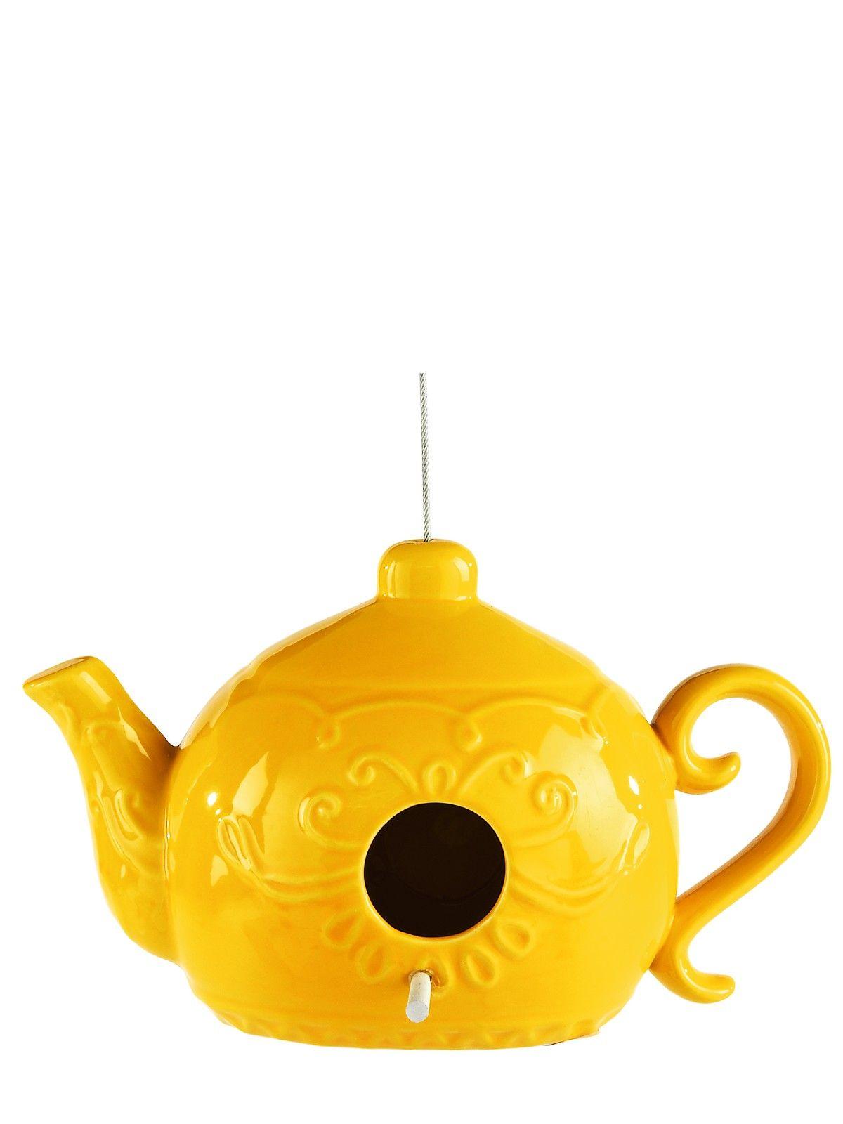 Ceramic Teapot Birdhouse