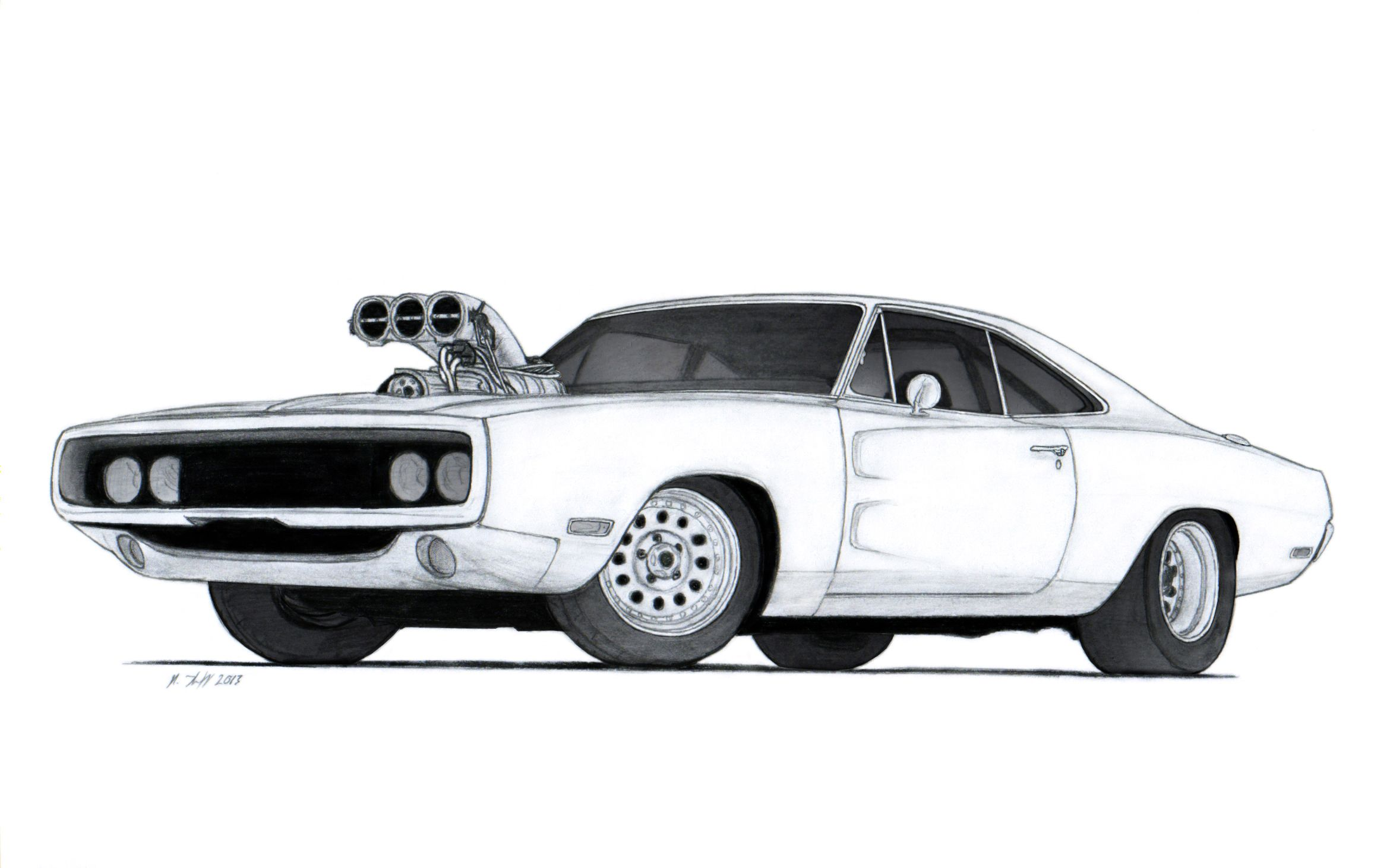 1970 Dodge Charger R T Drawing By Vertualissimo Deviantart Com On