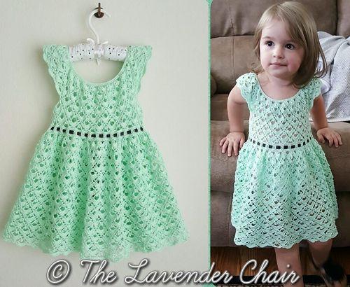 Gemstone Lace Dress Free Pattern Crochet For Children Free