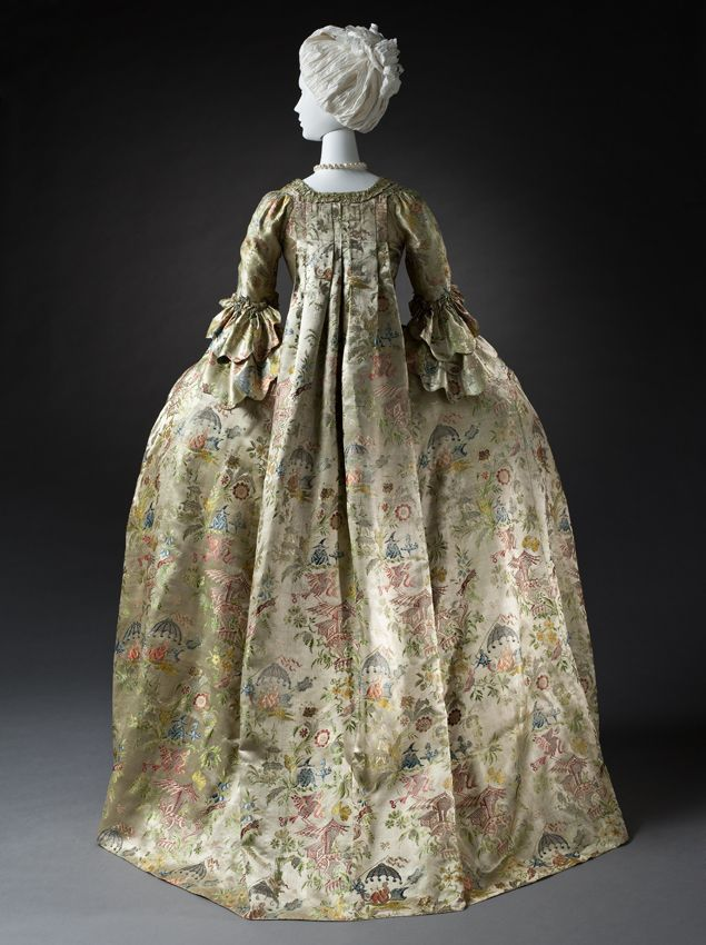 Woman\'s Robe à la Française, or \'sack-back gown\' or \'Watteau ...