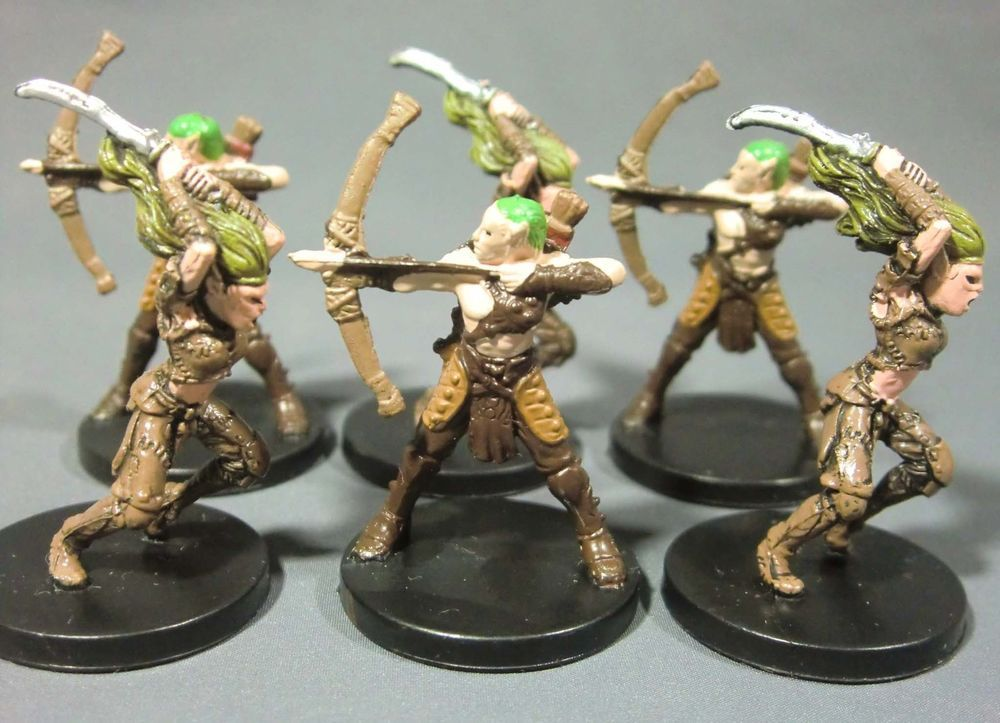 Dungeons & Dragons Miniatures Lot Elf Archer & Wild Elf !! s85