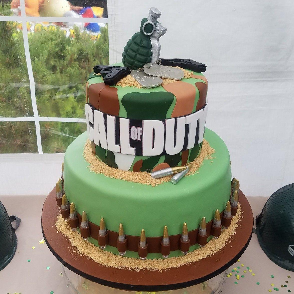 Call of duty wwii theme birthday cake birthday cake for