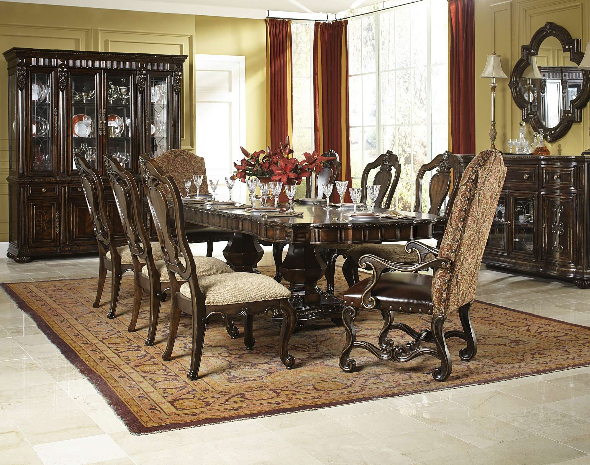 La Bella Vita Double Pedestal Table Dining Room Set Legacy Classic Furniture Home Gal Charming Dining Room Dining Room Design Traditional Dining Room Table