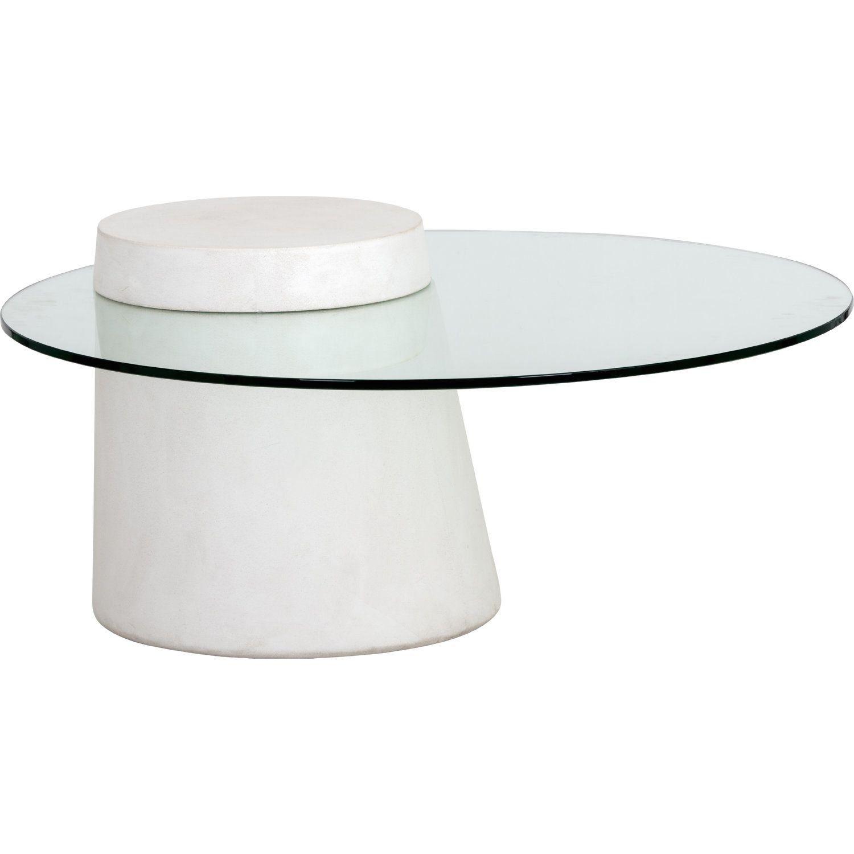 Sunpan 104096 Grange Round Coffee Table Ivory Concrete Tempered Glass 1000 Round Coffee Table Coffee Table Coffee Table Farmhouse [ 1500 x 1500 Pixel ]