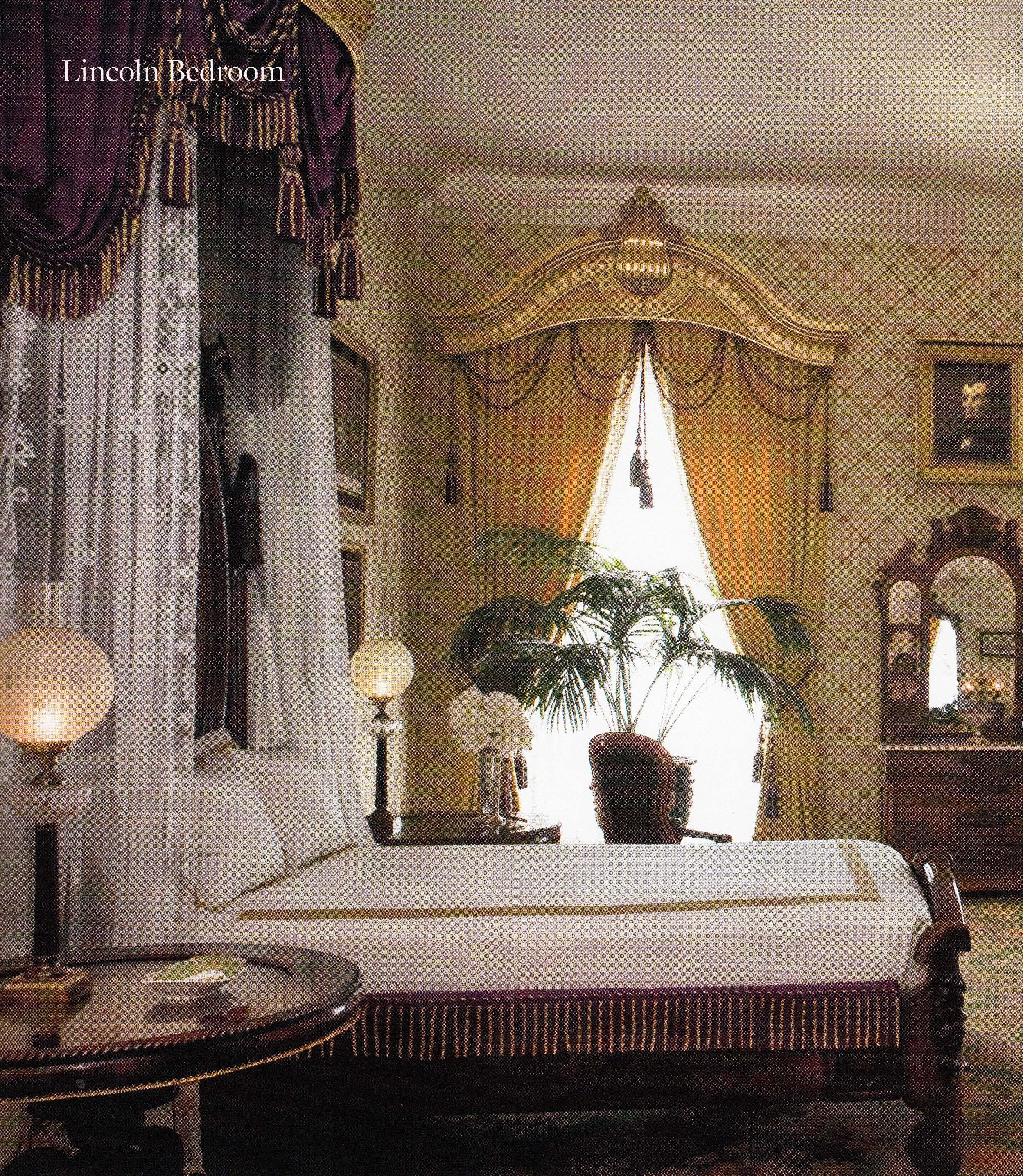 lincoln bedroom  whitehouse architectural digest  home
