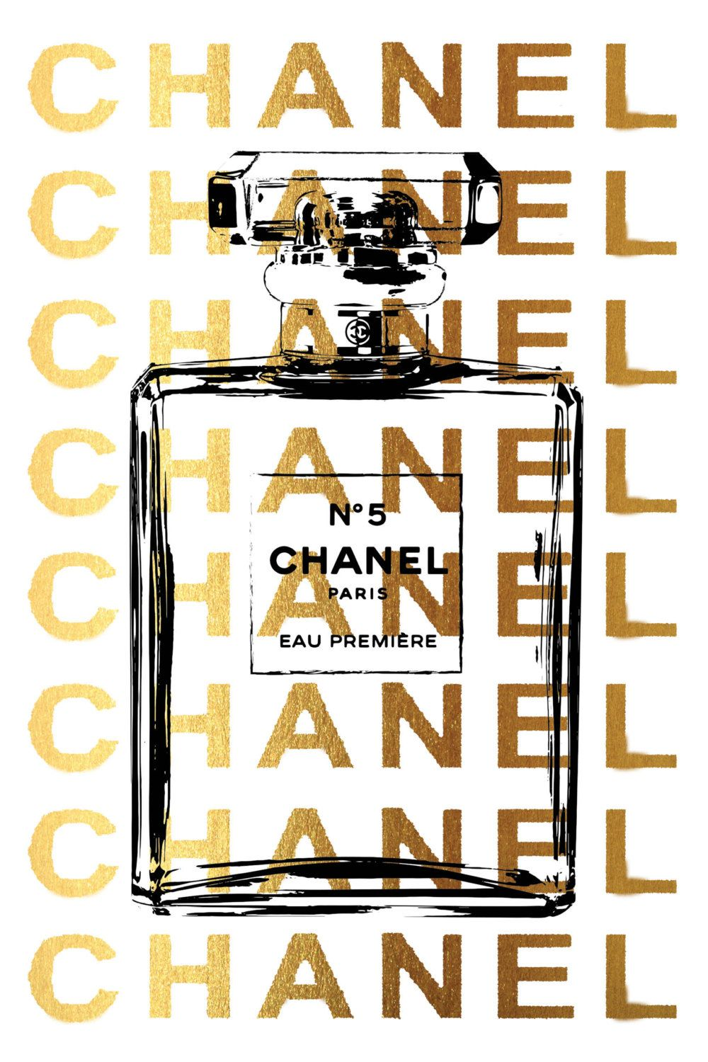 24x36 large chanel poster printed poster chanel by hellomrmoon all