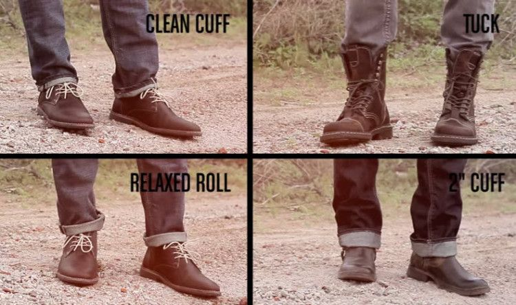 how to cuff pants with boots