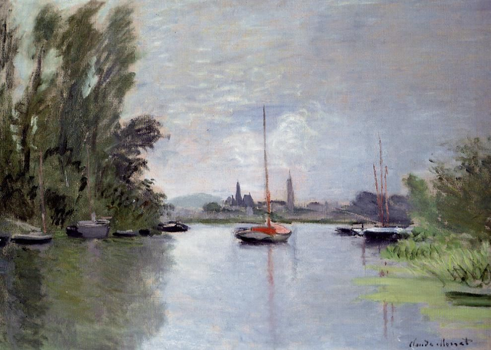 Argenteuil Seen from the Small Arm of the Seine Claude Monet